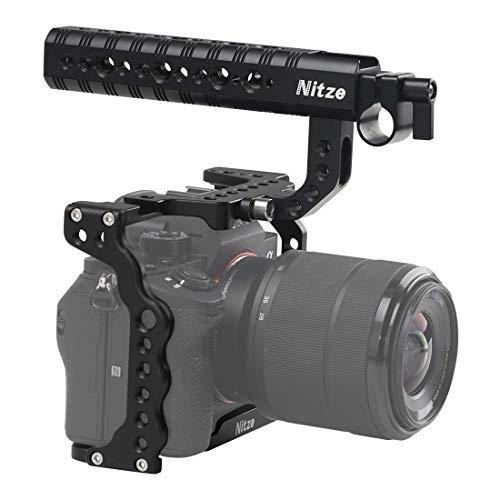 Nitze SHT03B A7III/A7RIII - Jaula para cámara Sony con asa Superior y Abrazadera para Cable HDMI