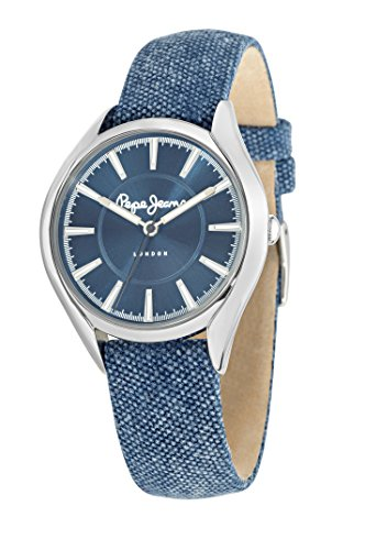 Pepe Jeans Charlie Women's Quartz Watch with Black Dial Analogue Display and Black Leather Strap R2351105001