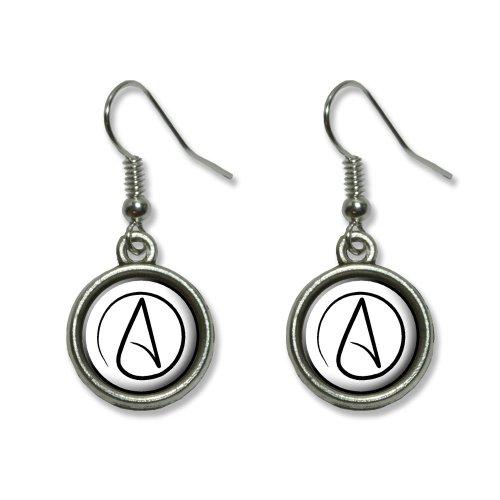 UNIVERSUM Atheist Symbol Neuheit Dangling baumeln Drop Charm-Ohrringe