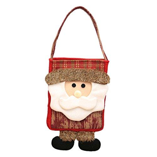 n Santa Claus Mini Handtasche Weihnachten Geschenk Tasche Xmas Decor Santa Claus amesii, *Santa Claus (Mini-filz-weihnachts-strümpfe)