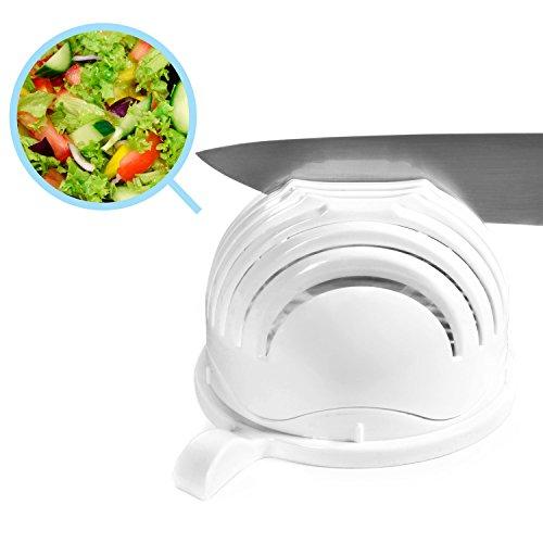 Magic Salad Maker - Salatschneider Salat-Schüssel, 60 Sekunden Schneidemaschine Salatschleuder, 3-in-1 Gemüseschneider für Obst, Gemüse Salat