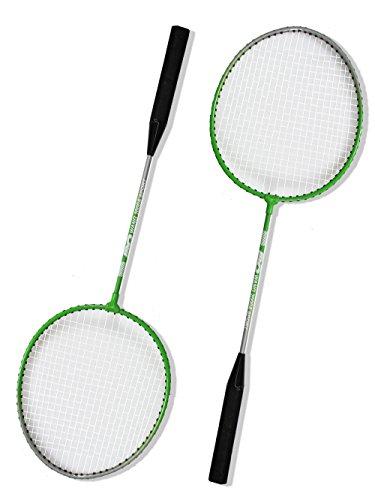 Vetrineinrete® Racchette da badminton con due volani con borsa racchetta con impugnatura antiscivolo con pallina per allenamento sport giochi 54982 P82