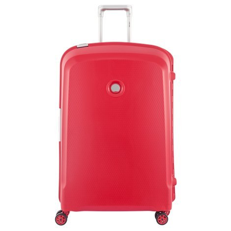 Delsey Belfort Plus Hard 76Cm Red Check-In Trolley Luggage (00384182104)
