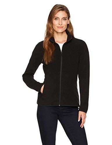 Amazon essentials Damen Fleece-Jacke mit Reißverschluss,Schwarz (black), Large