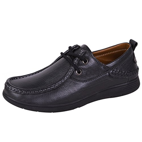 WALK-LEADER, Scarpe stringate uomo, nero (Black),