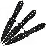 """G8DS® 3er Wurfmesser Set """" Black Chain"""" inkl. Etui schwarz"""