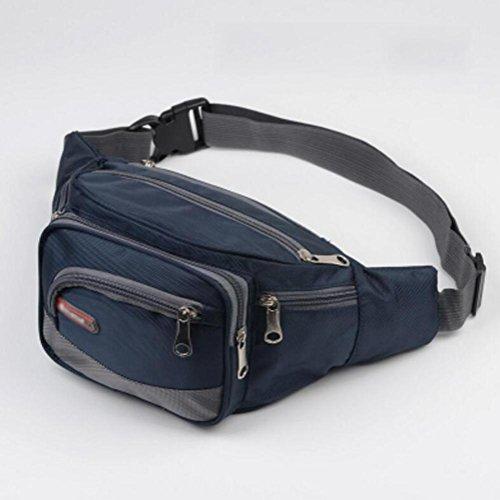 OOFWY Bum Waist Bag 4 Zip Tasche Viaggi Escursioni Escursioni all'aperto Borsa Sport Borsa Borse da viaggio Hip Custodia , D B