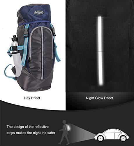 POLESTAR Hike Grey Rucksack with RAIN Cover/Trekking/Hiking BAGPACK/Backpack Bag Image 4