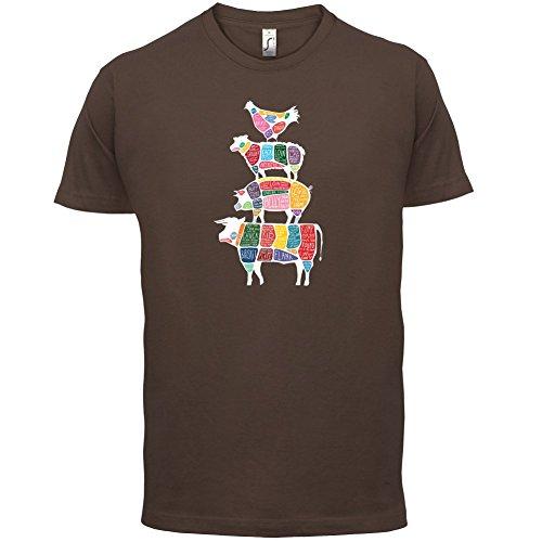 Meat Stack Diagram - Herren T-Shirt - 13 Farben Schokobraun
