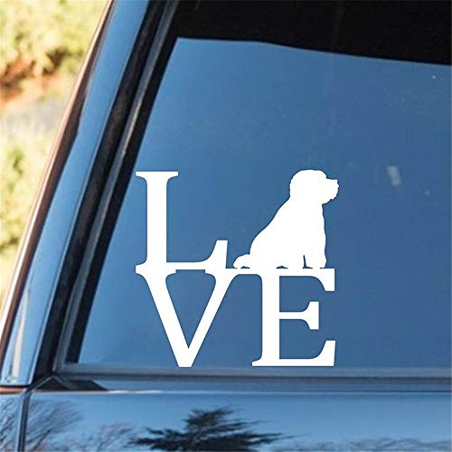 Wandtattoo Wohnzimmer Bichon Frise Love Dog Aufkleber Aufkleber Auto LKW Van Wandspiegel Spielzeug Kunst Heckscheibe Auto Aufkleber -