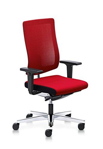 Sedus Stoll Black Dot-Stuhl Büro Bewegung Similar-Stoff rot, Rückenlehne Membran Rot