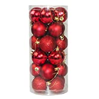 24Pcs 40mm Christmas Xmas Tree Ball Bauble Hanging Party Wedding Christmas Ball Ornaments Decor