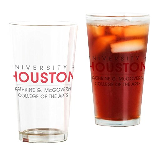 CafePress Houston Cougars College of Arts Pint-Glas farblos Houston Cougars Hat