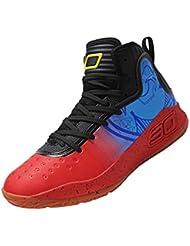 SINOES Hombre Zapatillas de Baloncesto Calzado Deportivo Al Aire Libre Moda High-Top Sneaker Antideslizante