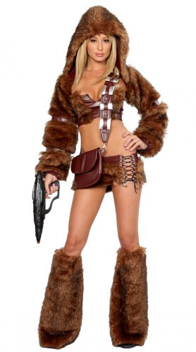 Superflauschiges Chewbacca Plüsch-Kostüm SCI-FI TROOPER Gr. (Kostüm Halloween Chewbacca)