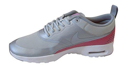Nike - Scarpe da ginnastica WMNS Nike AIR MAX THEA PREMIUM, Donna metallica platino wolf grigio bianco hyper 016