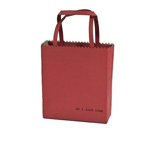 Regenesi Fruit Bag, Shopping Bag, Borsa design in pelle rigenerata prodotta a mano in Italia Rosso
