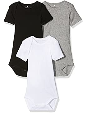NAME IT Baby-Jungen Body, 3er Pack
