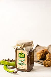 Green Chilli Jaggery Pickle/Hari Mirch Gur Ka Achar 400 gm - Homemade, Farm fresh, Preservative Free & Traditional Taste - By The Little Farm Co