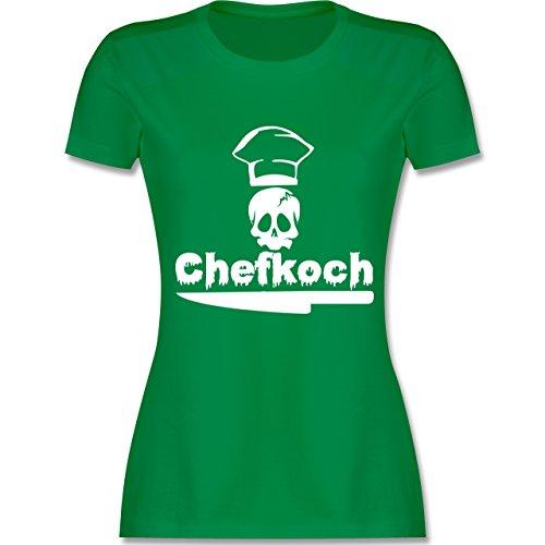 Küche - Chefkoch - tailliertes Premium T-Shirt mit Rundhalsausschnitt für Damen Grün