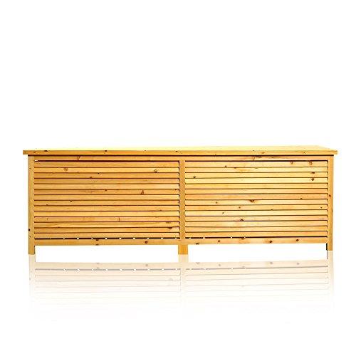 2in1 Holz Bank Auflagenbox Kissenbox Gartenbank Gartenmöbel Truhe Holztruhe