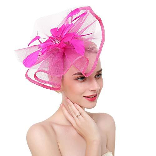schmuck, Blume Mesh BäNder Federn Stirnband Cocktail Tea Party Hut Kopfbedeckungen, Braut Hochzeit Kopf Pin Kopfschmuck Braut Brautjungfer Hochzeit ZubehöR ()