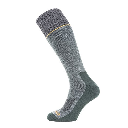 SealSkinz 147quickdrytm-Knie Länge geeignet für Laufen, Radfahren, Wandern, Segeln, Camping, Bereich, Pferd Riding-Multi Verwendung Socken S Green/Grey/Orange | 05055754422214