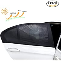 2ME Voiture Nuances de Fenêtre de Voiture pour Bébé, Pare-soleil Fenêtre de Voiture Auto Enfant Bloquer les Rayons UV - Max. to 100x54cm S'adapte à la plupart des voitures en France, 2 Pièce