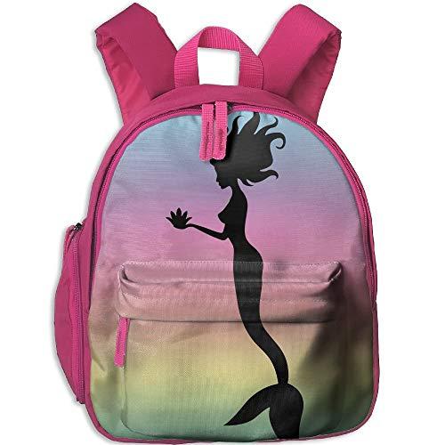 Kindergarten Boys Girls Backpack Mermaid School Bag