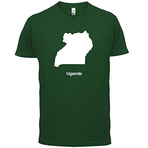 Uganda / Republik Uganda Silhouette - Herren T-Shirt - 13 Farben Flaschengrün