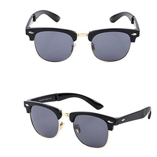 Btruely Unisex Sonnenbrille Sommer 2018 Neue Fahrbrille Polarisierte Sonnenbrille Mode Glasses Nachtsichtbrille Fahrbrille Mode Klassische Sportbrille Klassische Gläser Gefaltete Gläser (B) (Herren-mode-runde Brille)