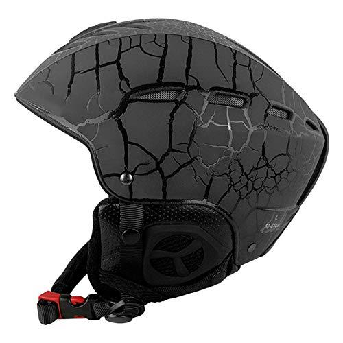 HS-GUANLY Rennhelm ABS Schwarz Offroad Helm DOT ECE Ski Fahrradhelm M/L Motorrad Staffel Rennhelm,M53~58CM