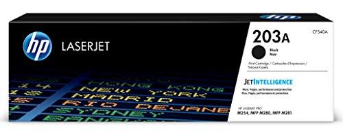 HP 203A (CF540A) Original Toner (für HP LaserJet Pro M254, HP LaserJet Pro M280, HP LaserJet Pro M281) schwarz (Hp Color Laserjet Black Toner)