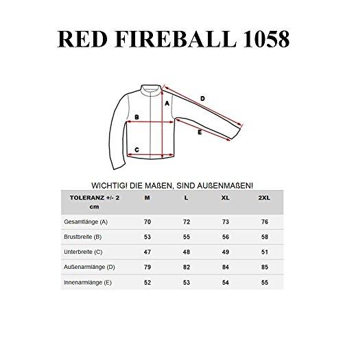 BOLF – Felpa con cappuccio – Con cerniera – Sweat-shirt – Uomo – RED FIREBALL 1058 Anthracite