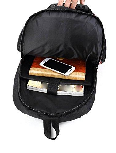LAIDAYE Schultertasche Computer-Taschen Außentaschen Reisetaschen Bergsteigen Taschen Taschen Sport Black