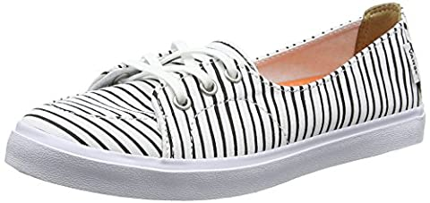 Vans Palisades Sf, Damen Sneakers, Weiß (just Stripes/true White/black), 39 EU