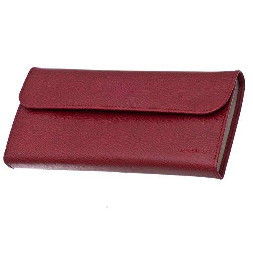 Trousse à Bijoux Plate DAVIDT'S Euclide - Rouge