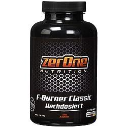 ZerOne Nutrition Premium Fatburner Kapseln 120 Kapseln hochdosiert, Essentiellen Fettsäuren, Abnehmen und Gewichtsreduzierung mit B3 & B6 Vitaminen