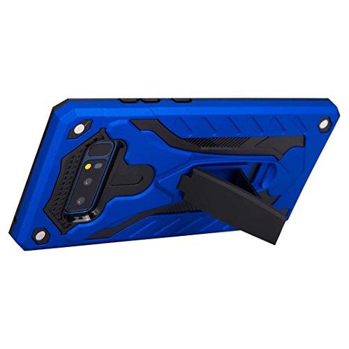 EKINHUI Case Cover Dual Layer Hybrid Armor Schutzhülle Shockproof Stoßfänger mit Kickstand für Samsung Galaxy Note 8 ( Color : Rosegold ) Blue
