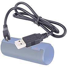 DURAGADGET Cable De Carga Para Logitech UE MegaBoom / Boom / Mini Boom / BoomBox - Conexión USB a Micro USB