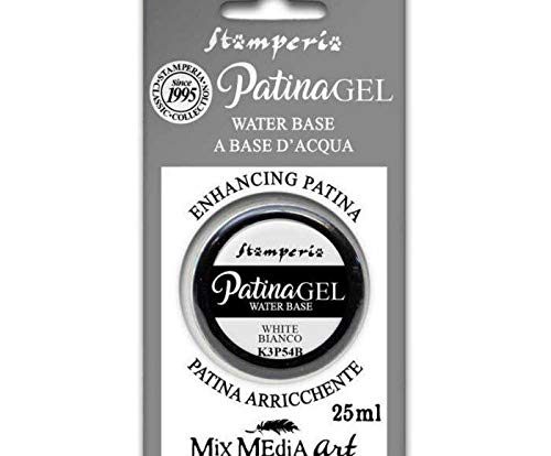 Patina-Gel - White 25 ml, Stamperia, Spezielle Farben, Hobby, Farben, Decoupage