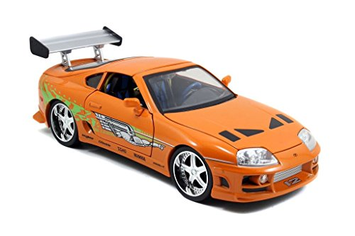 Jada Toys–97505OR –Modellauto Toyota Supra –Fast and Furious –Maßstab 1:18 –Orange