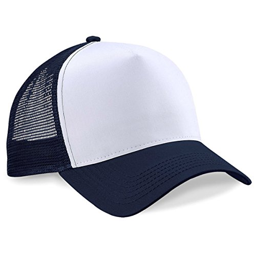 Beechfield - Casquette de Baseball -  Homme taille unique - French Navy / White