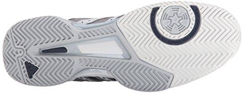 Chaussures Adidas Performance Barricade Team 4 Tennis, Ciel gris / argent / minuit Gris, 7 M Us Clear Grey/Silver/Midnight Grey