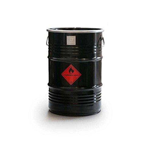 barrelq Smal, das Barrel Grill und Feuerstelle–Schwarz–H58x d40cm