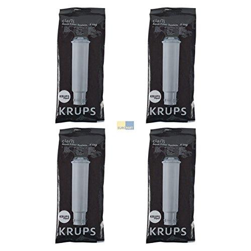 Krups F088 SET 4x ORIGINAL Wasserfilter Chlorfilter Kalkfilter Claris Aqua mit Schraubanschluss z.T....