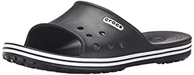 Crocs Unisex Crocband LoPro Slide Black Rubber Flip-Flops and House Slippers - M4/W6