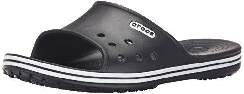 crocs Crocband LoPro Slide, Unisex-Erwachsene Pantoffeln, Schwarz (Black 001), 41/42 EU (M7/W8 Unisex-Erwachsene UK)