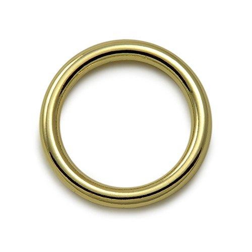 Ganzoo O - Ring aus Stahl, 5er Set, DIY Hunde-Leine/Hunde-Halsband, nichtrostend, Ideal mit Paracord 550, ohne Schweißnaht, Farbe: Goldoptik