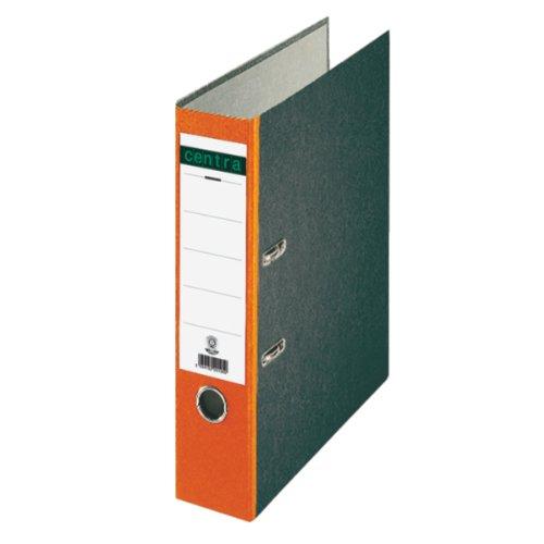 Preisvergleich Produktbild Centra 220126 Standard-Ordner (grauappe RC, mit Wolkenmarmor-Papier-Kaschierung, A4, 8 cm Rückenbreite) orange